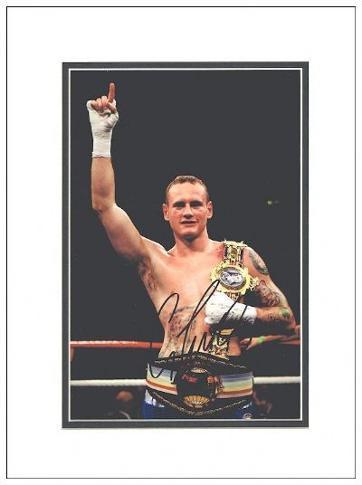 George Groves Authentic Autograph Signed Photo For Sale